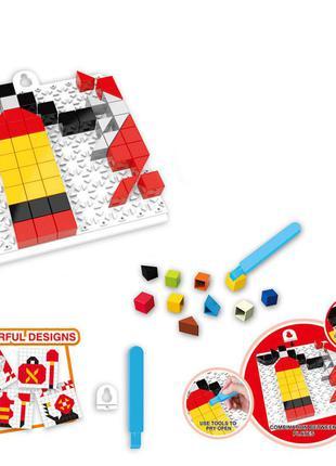 Детская развивающая мозаика 6990, 128 деталей (огнетушитель)