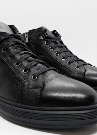 Суперские утепленные кожаные кеды хайтопы ботинки braska оригинал