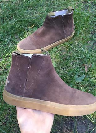 Кожанные деми ботинки ручная работа