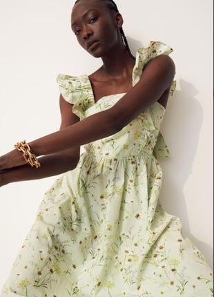 Поплиновое платье сарафан от h&m