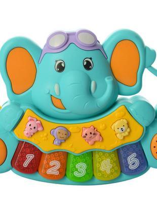 Детское игрушечное пианино 855-28a, 3 режима (бирюзовый)