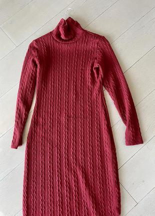 Вязанное платье guess