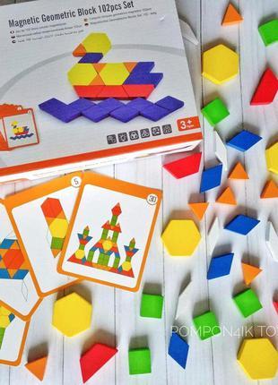 Геометрическая мозаика на магнитах 102 эл., viga toys