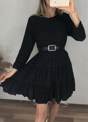 Платье zara, котон, свободный крой