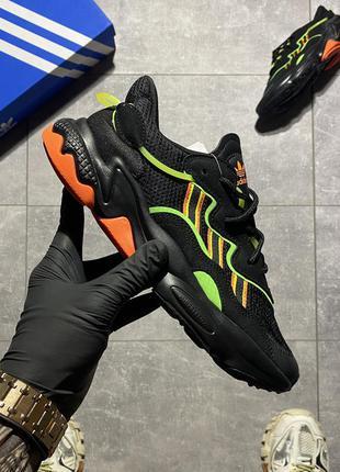 Женские кроссовки adidas ozweego black.