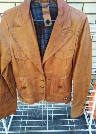 Пиджак,куртка женская кожаная, размер с/м