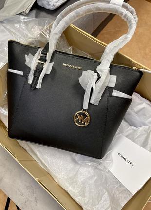 Сумка michael kors charlotte large saffiano leather top-zip tote bag