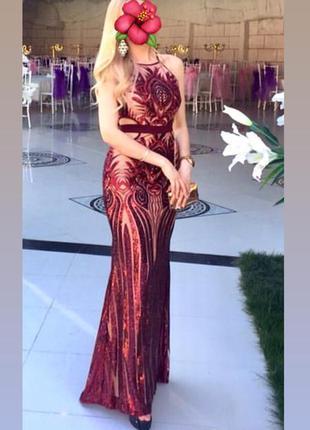 Платье вечернее в пол jovian