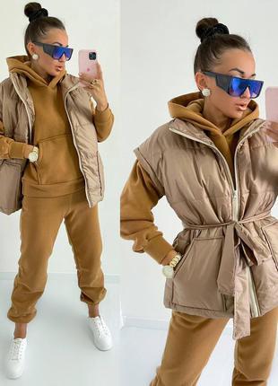 Женский тёплый костюм 3ка