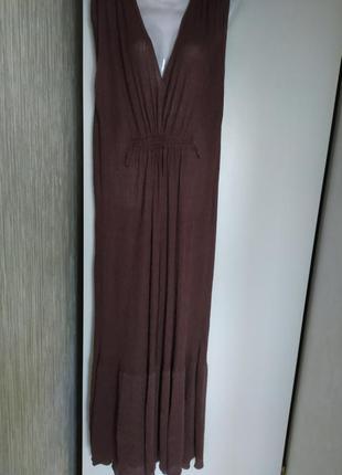 Платье сарафан трикотажное в пол ,s -- l