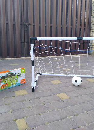 Футбольные ворота mr 0392 2в1, сетка, мяч, насос