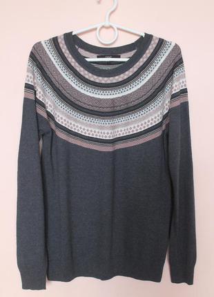 Серая натуральная кофточка, кофта, свитер, свитерок, светр 48-50 р.