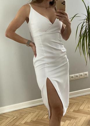 Плаття-міді білого кольору s-m