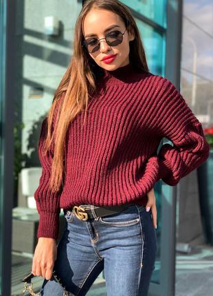 Свитер -12 цветов, теплый женский свитер, свитер oversize, зимний женский свитер (арт 17018)