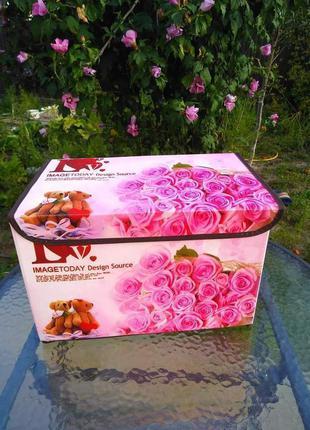 Ящик/пуфик для игрушек mr 0625 38-24-24 см (7 видов)