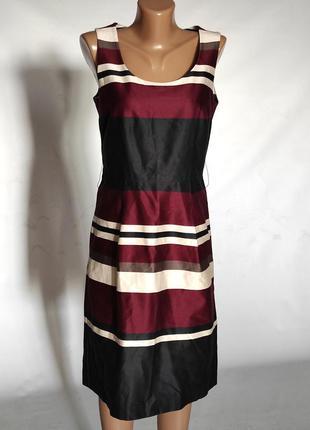 Платье миди хлопковое на подкладке и на молнии, красивый принт