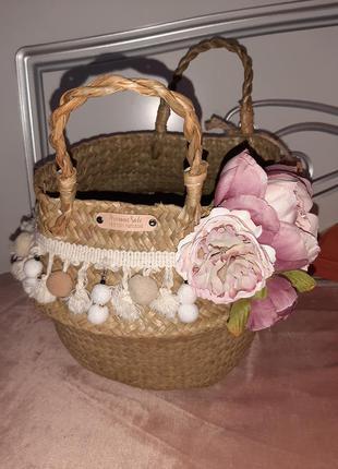 Плетеная корзинка с соломы aromaesale