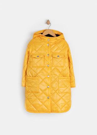 Куртка на девочку желтая демисезонная