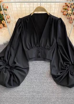 Блузка с объёмными рукавами