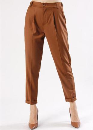 Терракотовые классические брюки