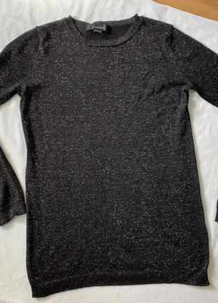 Лёгкий свитер с люрексовой нитью блестящий
