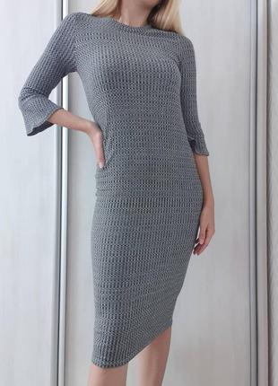 Плаття міді в рубчик new look