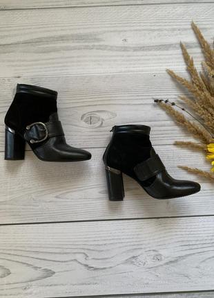 Кожаные ботинки,женские ботинки, осенние ботинки