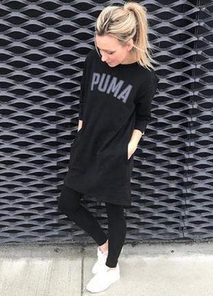 Утопленное платье свитшот от puma