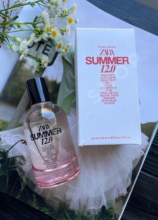 Zara summer 12.0 духи парфюм парфюмерия туалетная вода оригинал испания