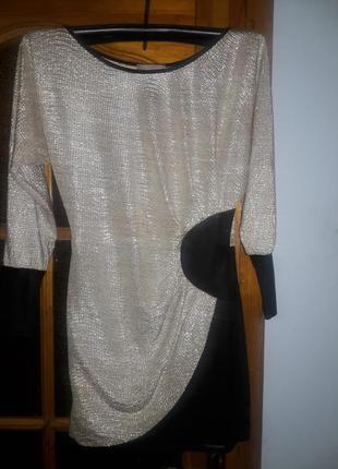 Вечернее платье стального цвета