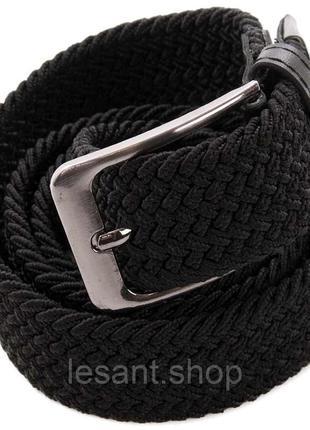 Ремень alon плетеный резинка тканевый черный 122 см (1245 black)