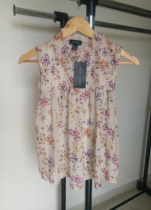Блуза в цветок,  блузка в цветок, топ,  майка,  топ в цветок