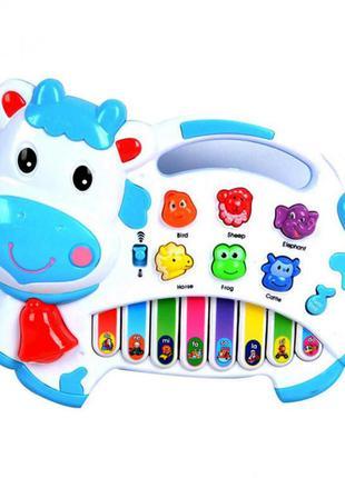 Детский музыкальный орган 1601 со звуками животных (белый)