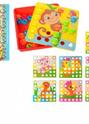 Детская развивающая мозаика животные 66838, 35 фишек