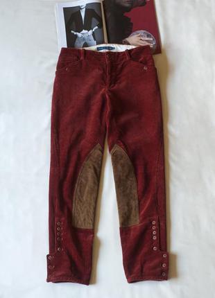 Вельветовые брюки кирпичного цвета женские ralf lauren, размер s, m