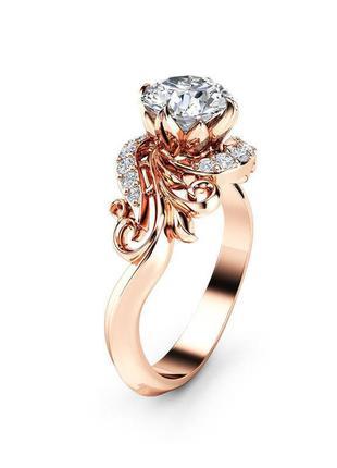 Кольцо женское с кристаллами 19 размер