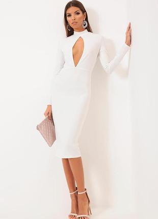 Откровенное миди платье