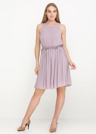 Утонченное воздушное платье плиссе