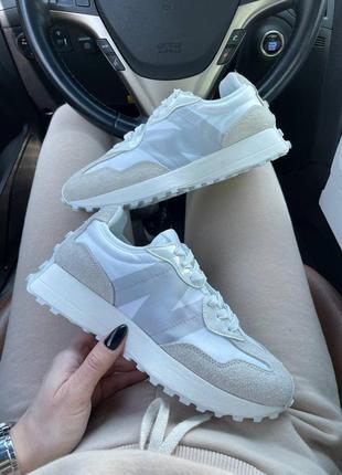 New balance 327 white кроссовки нью баланс наложенный платёж