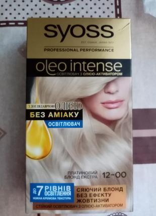 Syoss крем-краска для волос 12.00 платиновый блонд экстра