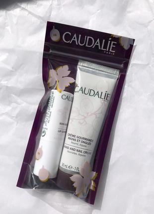 Набор caudalie- крем для рук и бальзам для губ