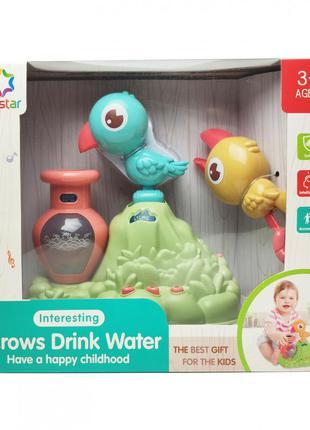 """Игра """"птички пьют воду"""" 25876е светиться (синяя птичка)"""