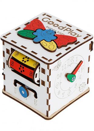 Детский развивающий куб бизиборд k001, 12×12×12