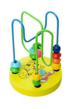 Деревянная игрушка лабиринт md 0060 12 см (желтый)