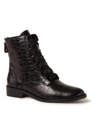 Ботинки натуральная кожа крокодила made in italy
