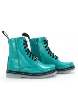 Бірюзові черевики лакована шкіра / розмір: 27,28,29,30,31