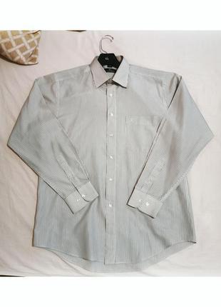 Мужская рубашка в рубчик