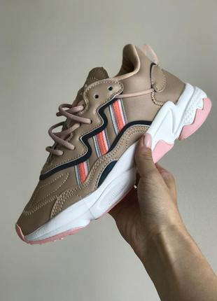 Кроссовки adidas ozweego brown кросівки