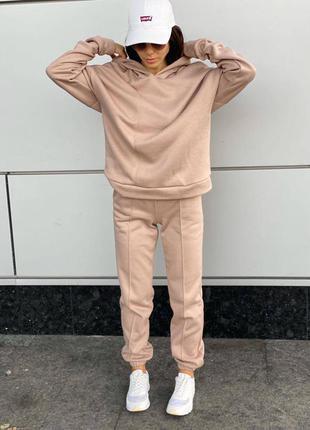 Тёплый прогулочный костюм на флисе в цветах размеры 42/52