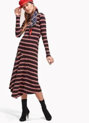 Новое женское платье stradivarius в рубчик размер s